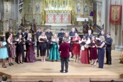 David with the Medic to Medic Choir in concert at St. Gabriel's Pimlico, December 2018