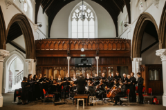 David directing the Hackney Church Choir and Orchestra on Good Friday, 2019