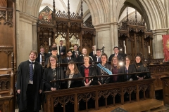 The Beaufort Chorale in Southwark Cathedral, January 2020.