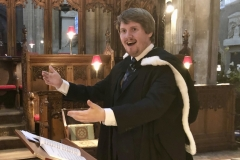 With the Beaufort Chorale at Bristol Cathedral 2018